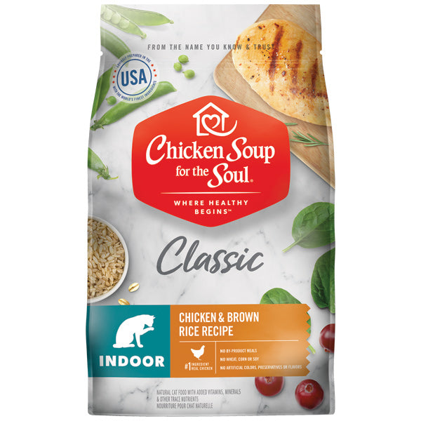 Chicken Soup for the Soul Indoor Chicken Brown Rice Dry Cat Food, 13.5 lb