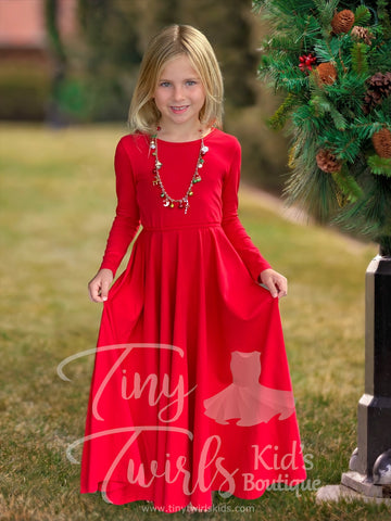 Christmas Red Maxi Dress - Pre-Order