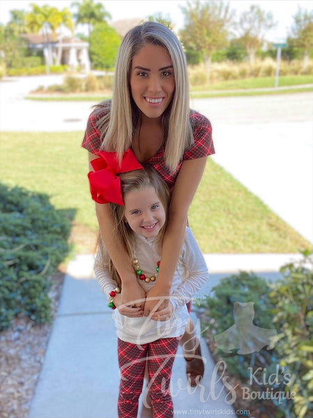 Women's Red Plaid Dress - In-Stock - Mommy & Me