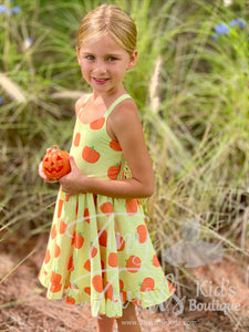 Pumpkin Twirl Dress - In-Stock