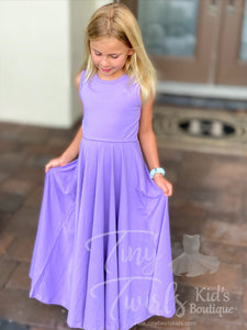 Lavender Summer Maxi Dress - In-Stock