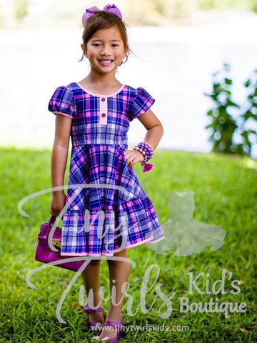 Mad about Plaid Twirl Dress - Pre-Order