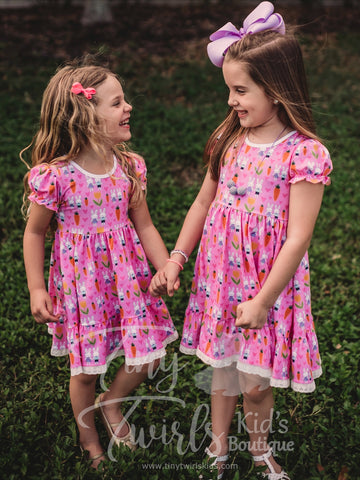 Easter Bunny Twirl Dress - In-Stock