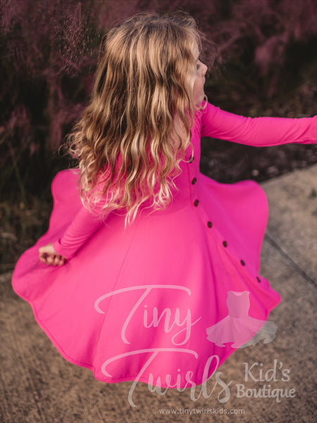 Ribbed Cotton Twirl Dress - Pre-Order