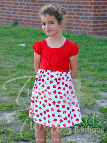 Back to School Dress Apples - In-Stock - Tiny Twirls Kids Boutique