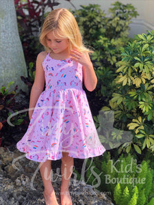Unicorns and Rainbows Twirl Dress - In-Stock - Tiny Twirls Kids Boutique