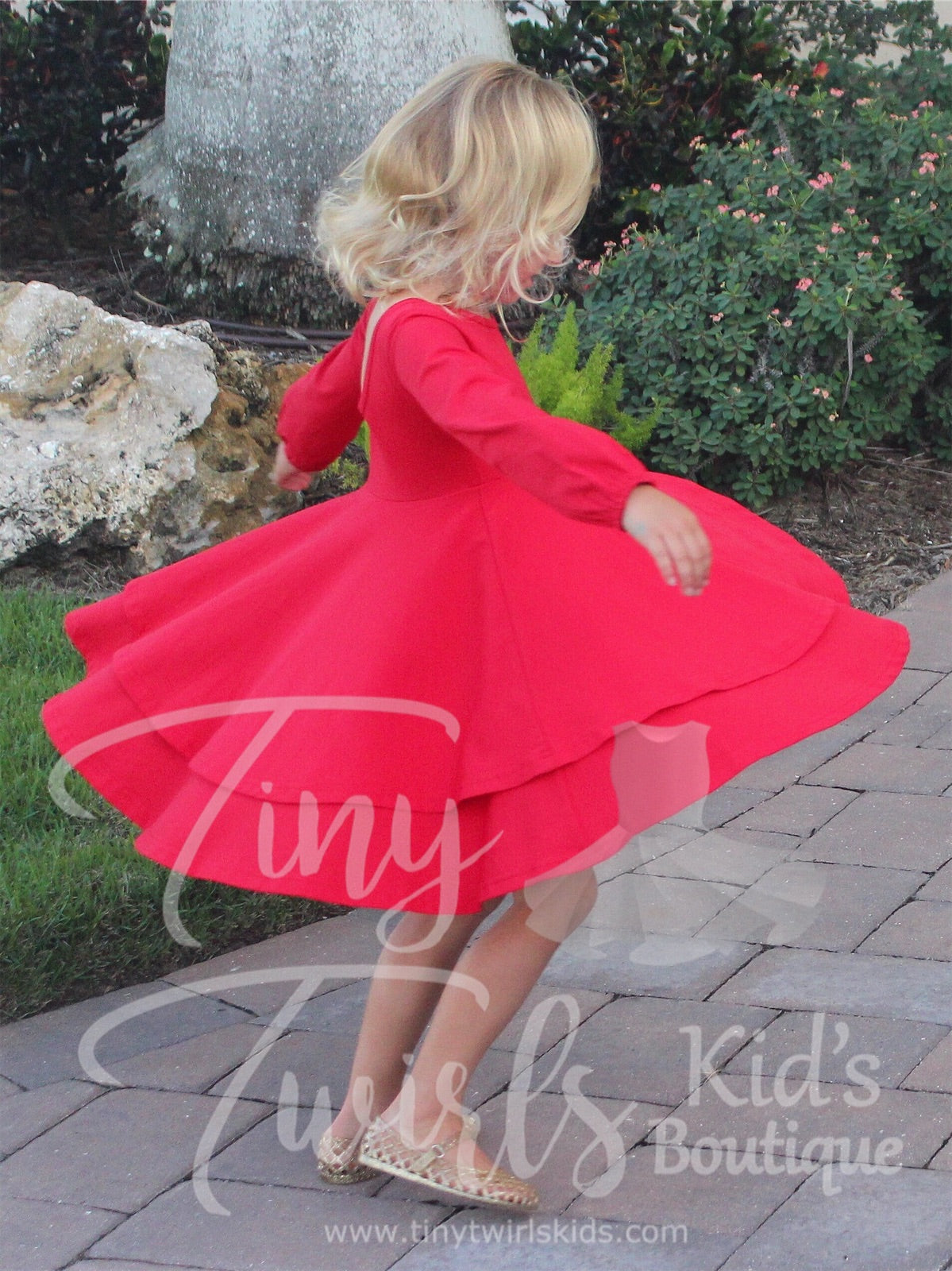 Christmas Red Double Twirl Dresses - In-Stock - Tiny Twirls Kids Boutique