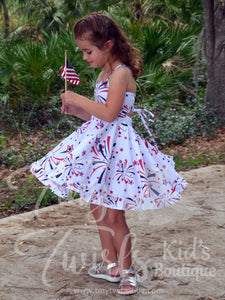 Fireworks Twirl Dress - In-Stock - Tiny Twirls Kids Boutique