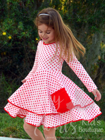 Sweetheart Pocket Twirl Dress - In-Stock - Tiny Twirls Kids Boutique