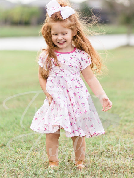 Light Pink Floral Dancer - In-Stock - Tiny Twirls Kids Boutique