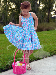 Blue Bunny Twirl Dress - Pre-Order