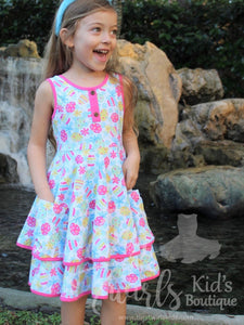 Easter Eggs Double Twirl Dress - Pre-Order