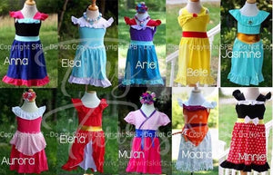 Disney Inspired Princess Dresses - Pre-Order - Tiny Twirls Kids Boutique