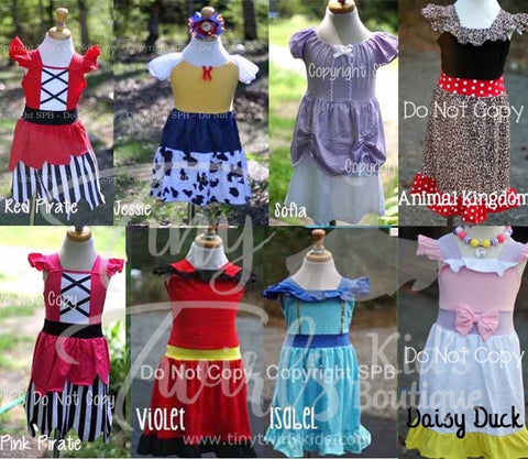 Even More Disney Inspired Princess Dresses - Pre-Order - Tiny Twirls Kids Boutique