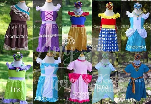 More Disney Inspired Princess Dresses - Pre-Order - Tiny Twirls Kids Boutique