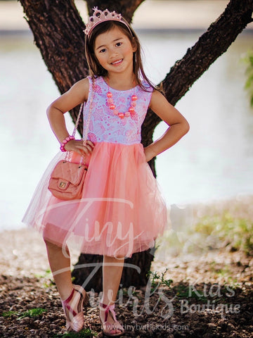 Seashell Tank Tulle Dress - In-Stock - Tiny Twirls Kids Boutique