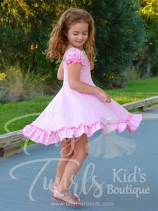 Pink Ruffle Twirl Dress - In-Stock - Tiny Twirls Kids Boutique