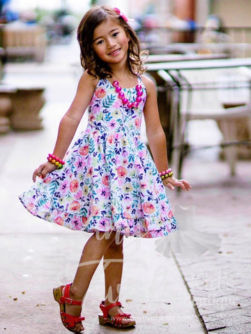 Floral Dreams Twirl Dress - Pre-Order - Tiny Twirls Kids Boutique