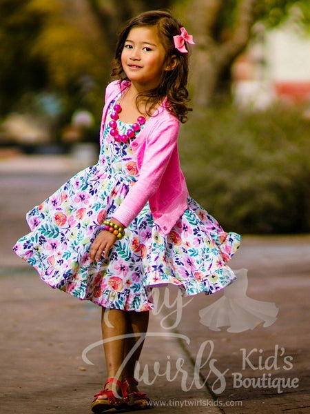 Floral Dreams Twirl Dress - In-Stock - Tiny Twirls Kids Boutique