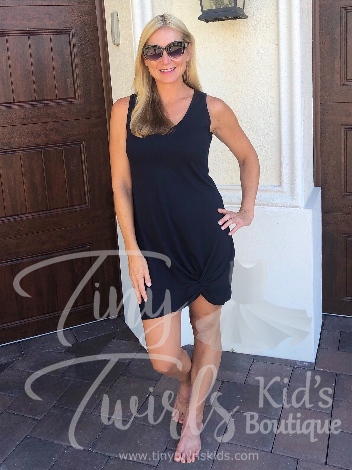 Women's Knot Dress - In-Stock - Mommy & Me - Tiny Twirls Kids Boutique