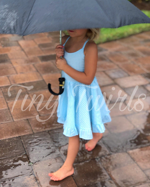 Gingham Twirl Dress - In-Stock - Tiny Twirls Kids Boutique