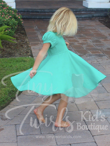 Jade Dancer Twirl Dress - In-Stock - Tiny Twirls Kids Boutique