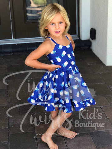 Pineapple Twirl Dress - In-Stock - Tiny Twirls Kids Boutique