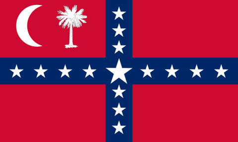 first confederate flag flown over a united states territory