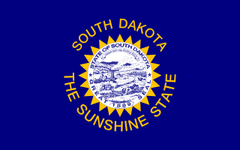 1963 south Dakota state flag image