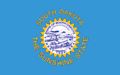 1963-1992 South Dakota State Flag