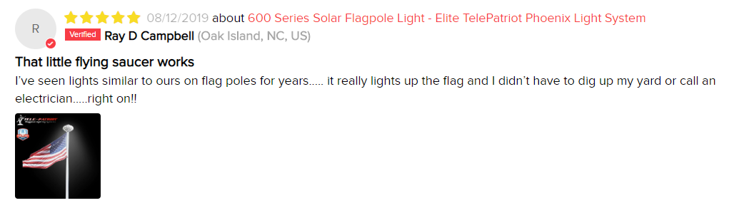 Orbital LED Solar Flag Pole Light Review