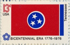 usps stamp of tennesse flag upside down