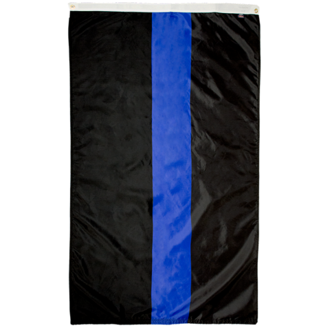 Law Enforcement Support Flag Thin Blue Line Flag for sale online