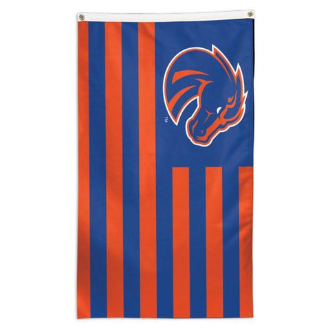NCAA Boise State Broncos striped team flag for sale
