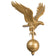 "12"" Gold colored Eagle Flagpole Topper"