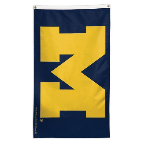 NCAA team flag for extendable flagpole Michigan Wolverines flag for sale