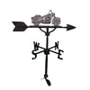 Image of sweedish iron color motorcycle on top of a black weathervane