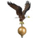 "12"" Natural Eagle Flagpole Topper"