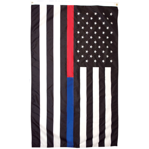 american flag with blue and red thin line for sale online