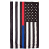 Image of american flag with blue and red thin line for sale online