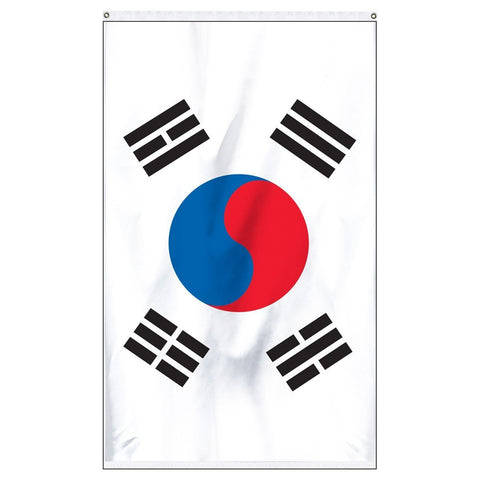 South Korea national flag for sale to buy online. White flag with Korean symbol in the center