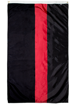 Thin red line black flag for firefighters for sale online