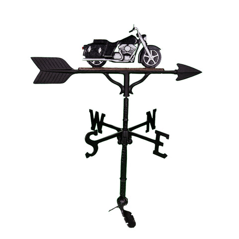 black and chrome Motorcycle Weathervane for sale online