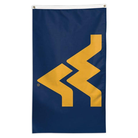 NCAA West Virginia Mountaineers team flag for sale for business to fly on a flagpole