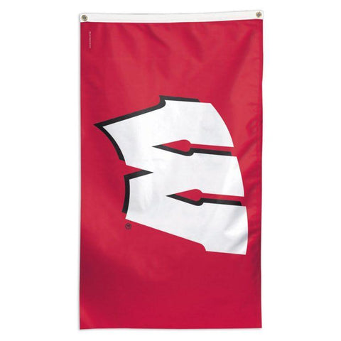 NCAA Wisconsin Badgers team flag for sale to fly on a flagpole