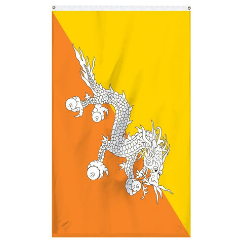 The national flag of Bhutan for sale for flagpoles