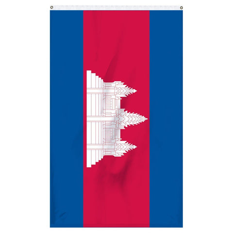 Cambodia international flag for sale for flag collectors or parades or flagpoles
