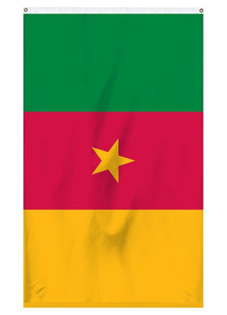 Cameroon international flag for sale to fly on flagpoles, parades, or for collectors