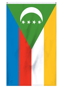 Comoros National flag for sale for indoor or outdoor flagpoles and parades