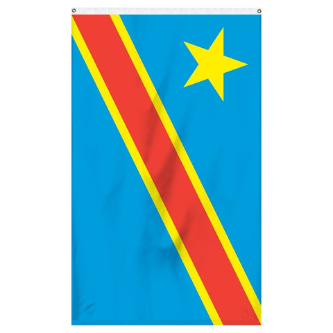 The Democratic Republic of Congo national flag for sale